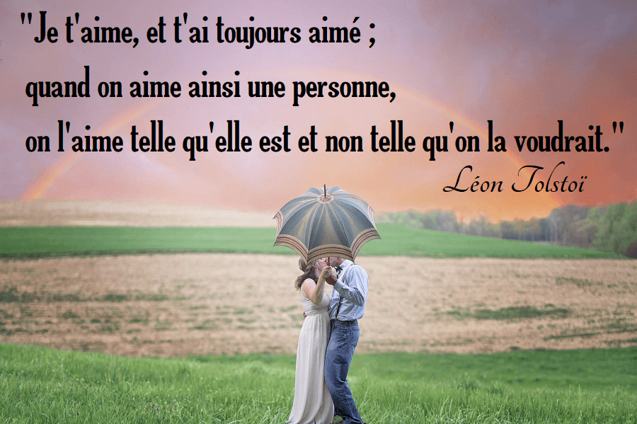 citation je t'aime tolstoi