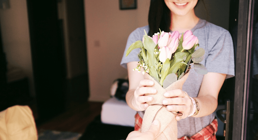 Des fleurs pour un premier rendez-vous ?